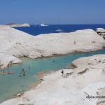 La playa lunar de Sarakiniko en Milo