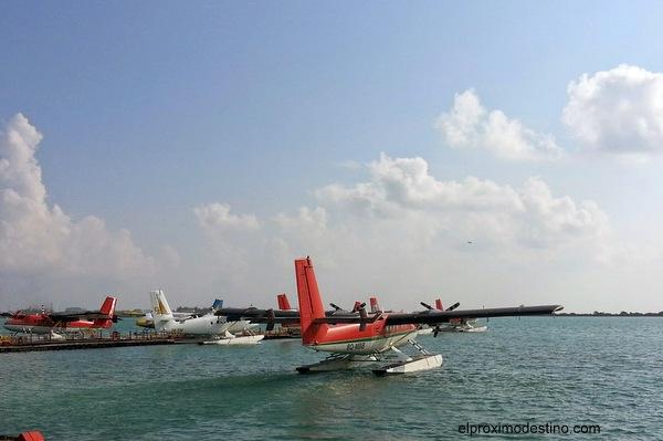 Hidroavión en Maldivas