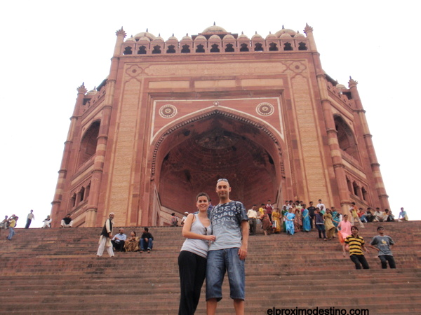 Una de las puertas a la Mezquita, Fatehpur Sikri