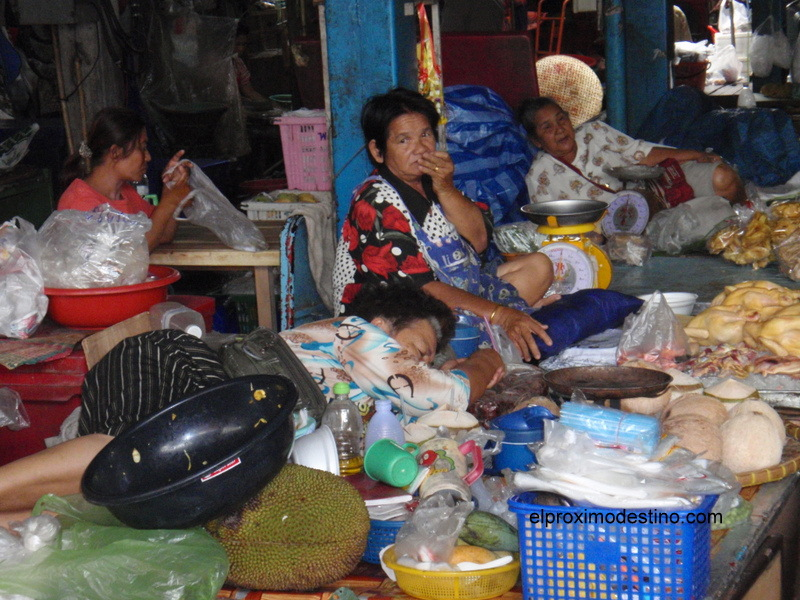 Mercado en Sukhothai