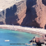 Red Beach en Santorini
