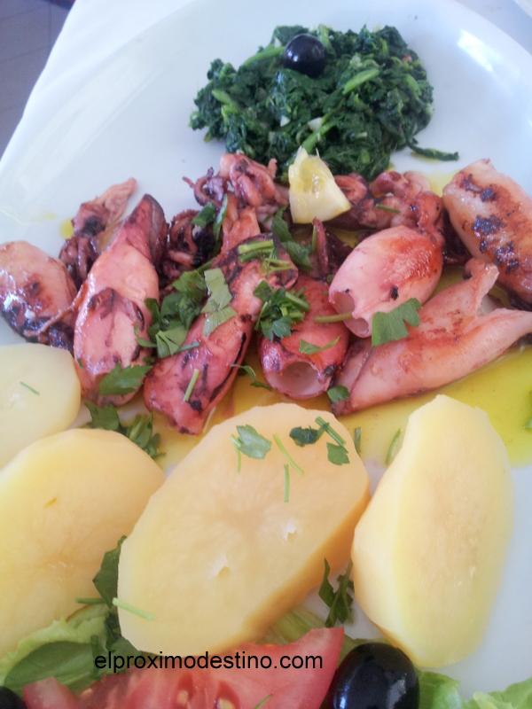 Calamares frescos en Matosinhos