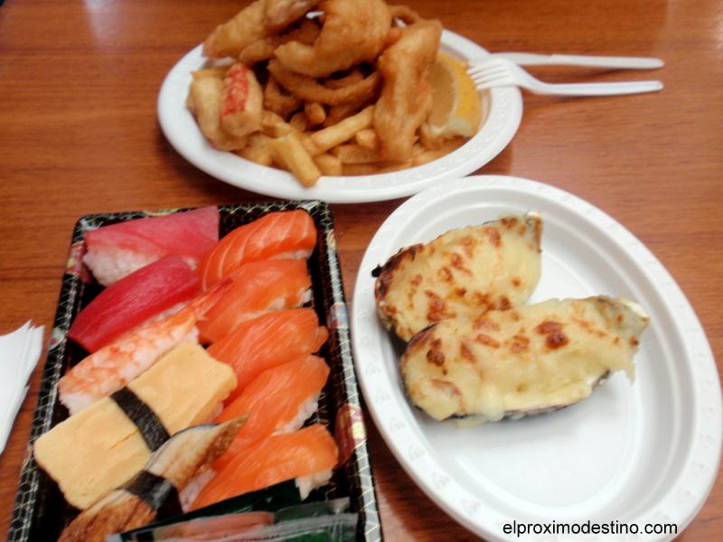 Nuestro desayuno en Sidney Fish Market