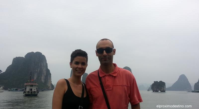 Nosotros en Bahía de Halong