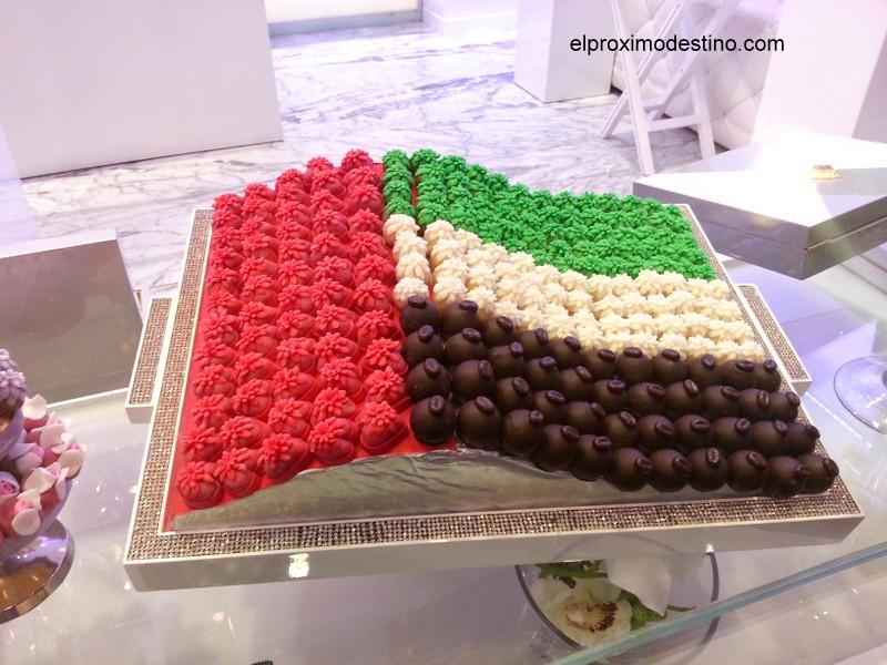 Bandera de Dubai en Bombones