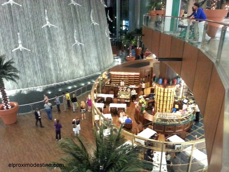 Cascada en el Dubai Mall