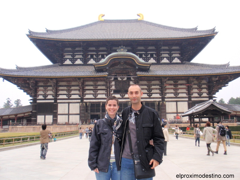 Nosotros en el templo Todai-ji en Nara