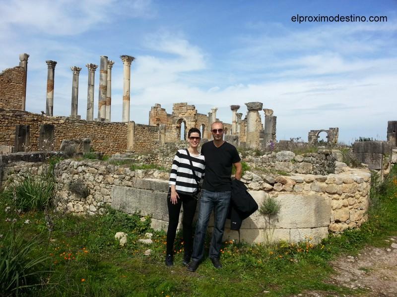 Nosotros en las ruinas de Volubilis
