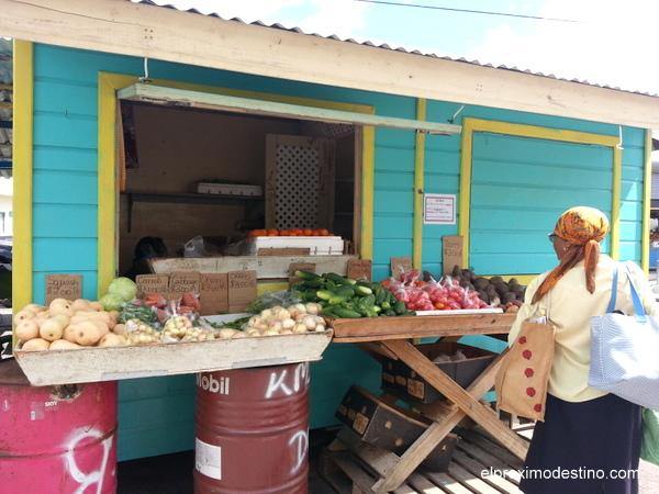 Puesto de fruta en Bridgetown