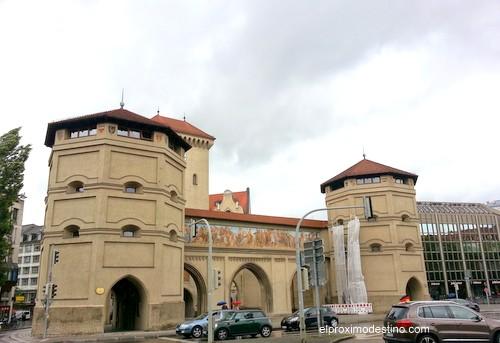 Isartor, una de las puertas de la ciudad de Múnich.