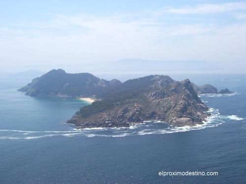 Vista desde las Islas Cíes.