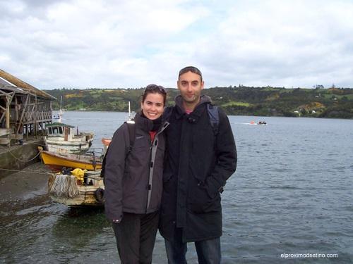 Meritxell y David en Chiloé