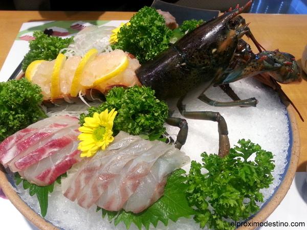 Surtido de sashimi en Corea