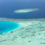 Sobrevolando las Maldivas en hidroavión
