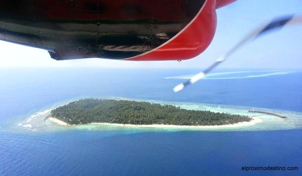 La isla Filitheyo desde el aire