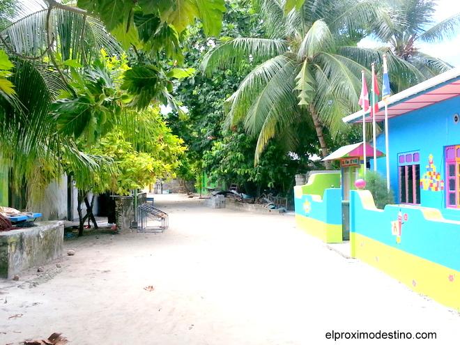 Una de las calles de la isla.