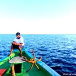 Pescando en las Maldivas