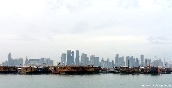 Distrito financiero desde la Corniche