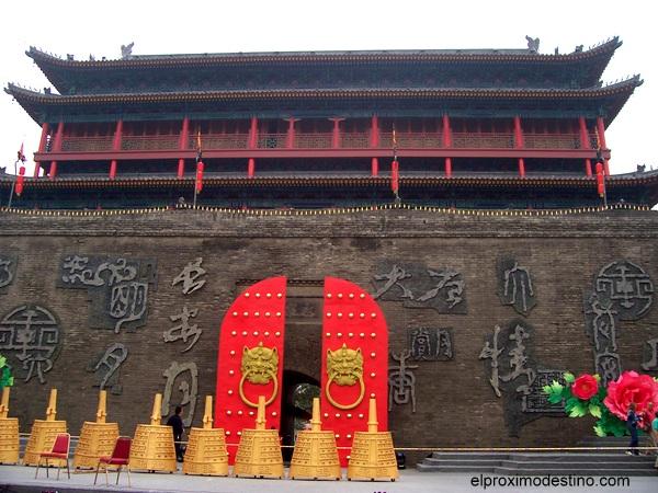 Una de las puertas de la muralla de Xi `an