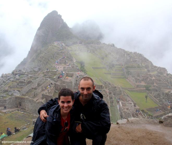 Meritxell y David en Machu Pichhu
