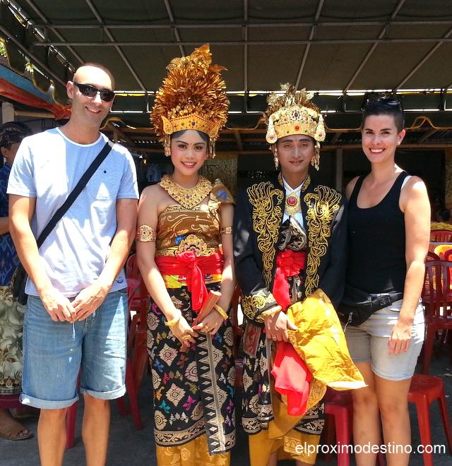 Con los recién casados, Bali.