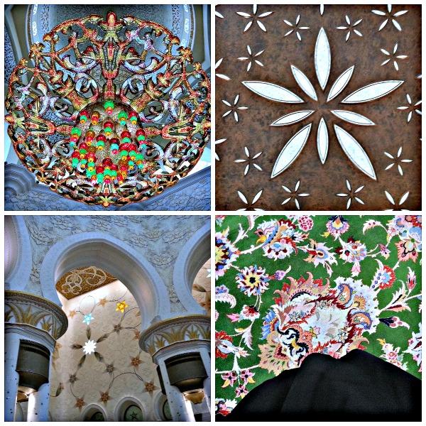 Interiores de la Gran Mezquita de Abu Dhabi