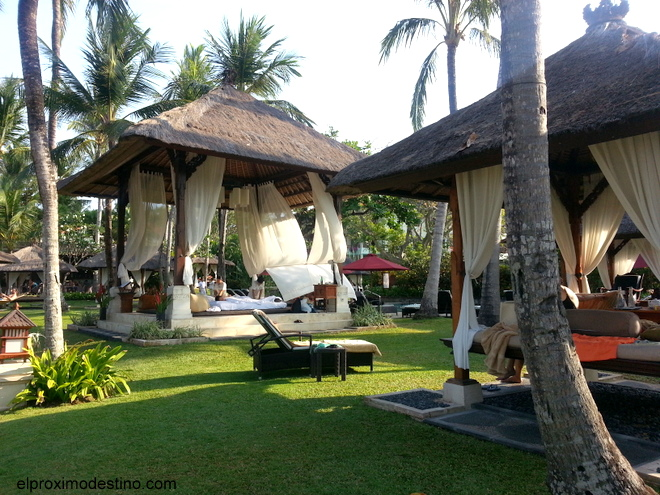 Spa al aire libre en hotel de Nusa Dua, Bali