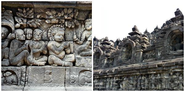 Relieves en Borobudur