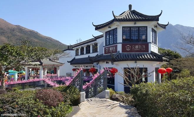 Zona comercial en Lantau.