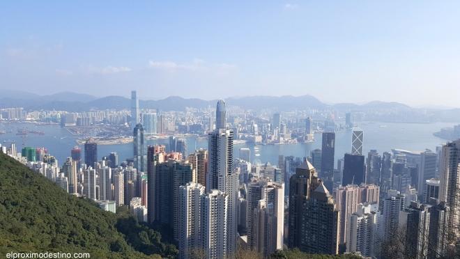 Vistas desde el Pico Victoria, Hong Kong.