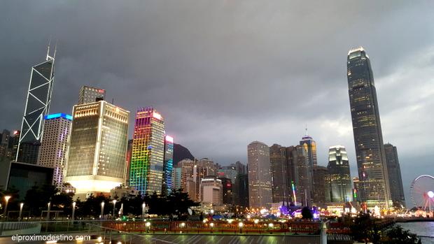 Atardecer en Hong Kong