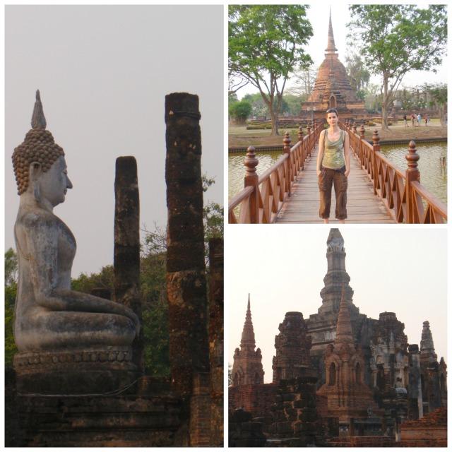visitar las ruinas de Sukhothai