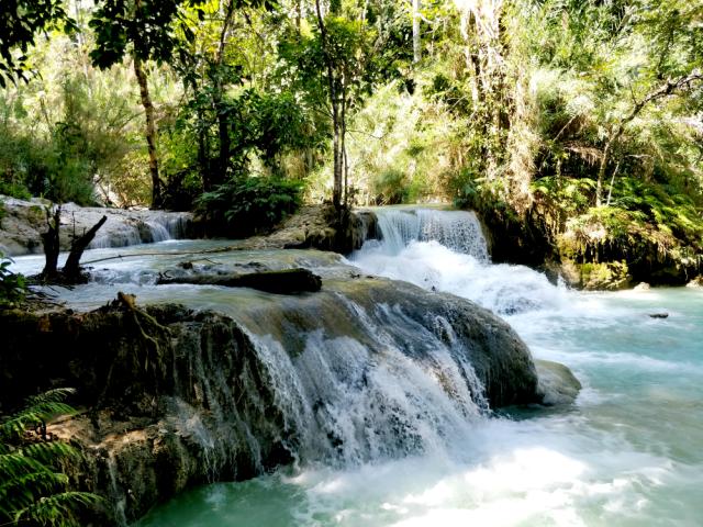 Como ir a las cascadas de Luang Prabang , Laos.